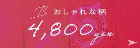 B おしゃれな柄 4,800yen